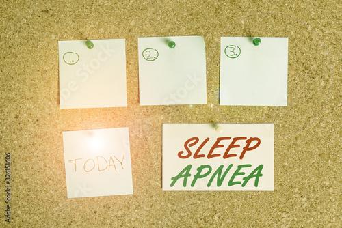 Photo Word writing text Sleep Apnea