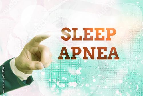 Writing note showing Sleep Apnea Canvas Print