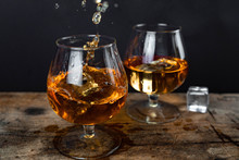 Two Whiskey / Cognac Glasses W...