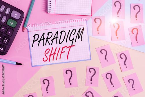 Writing note showing Paradigm Shift Canvas Print