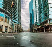 Modern City Scene From Street ...