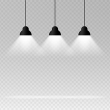 Background With Lighting Lamp....