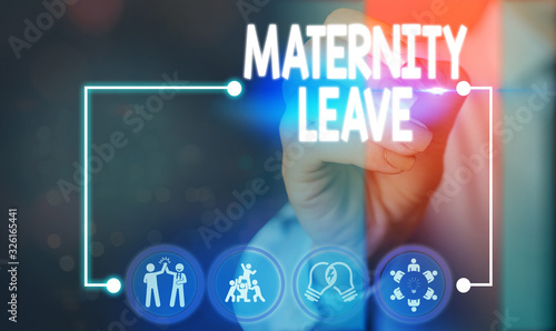 Text sign showing Maternity Leave Canvas Print