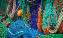 Fishing Net In A Port In South...