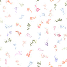 Seamless Floral Pattern On A W...