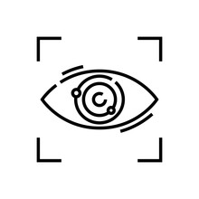 Following Eye Line Icon, Conce...