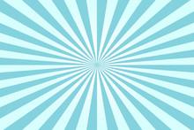 An Abstract Blue Sunburst Back...