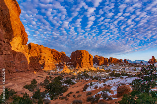 Canvas Print Clouds Over the Windows Section of Arches National Park