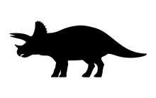 Vector Triceratops Silhouette
