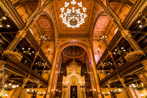 Fotografia great synagogue of Budapest, Hugria indoor images
