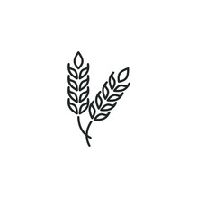 Ear Of Wheat Icon Template Col...