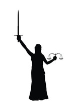 Themis Lady Justice Silhouette Vector