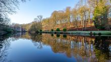 Knaresborough River Reflections In Yorkshire England