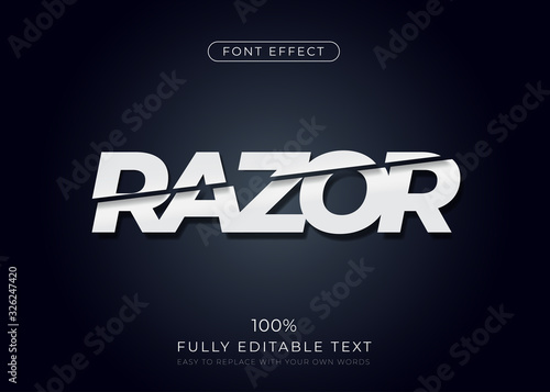 Fotomural Sliced text effect. Editable font style