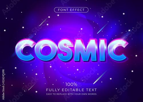 Fototapeta Modern vibrant 3d text effect. Editable font style obraz