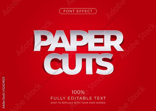 Valokuvatapetti Paper text effect. Editable font style