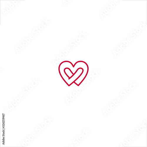 Obraz na plátně Love logo Heart design body hug