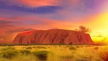 Uluru Ayers Rock At Twilight