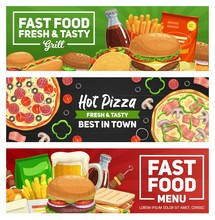 Fast Food Pizza, Burgers And S...