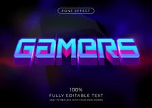 3d Futuristic Gamers Text Effe...