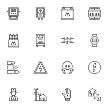 Electricity Supplies Line Icon...