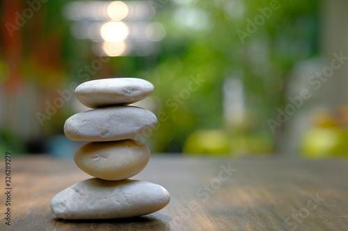 Photo zen stones on a background