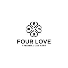 Creative Modern Four Heart Lov...