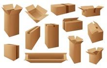 Cardboard Or Carton Boxes, Pac...