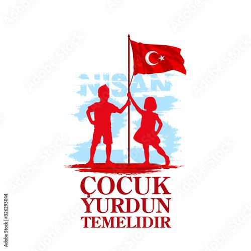 Papel de parede April 23 Turkish national ataturk festival banner cocuk baryrami 23 nisan, tr: A