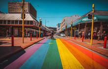Landscape Of Cuba Street, Wellington, New Zealand