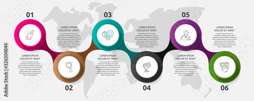 Photographie Vector template circle infographics