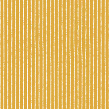 Stripe Pattern Background. Seamless Vector Textured Repeat Design In Ochre And White.