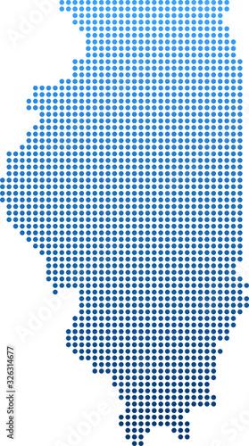 map of Illinois Tableau sur Toile