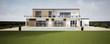 Leinwanddruck Bild - Perspective 3d grande villa avec piscine 06