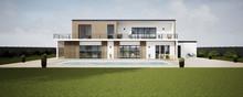 Perspective 3d Grande Villa Avec Piscine 06