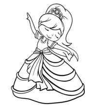 Princess Girl Dancing In Lush ...