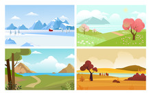 Four Seasons Backgrounds. Summ...