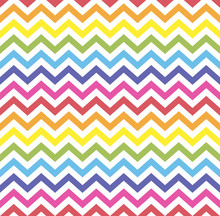 Rainbow Seamless Zigzag Patter...