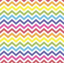 Rainbow Seamless Zigzag Patter...