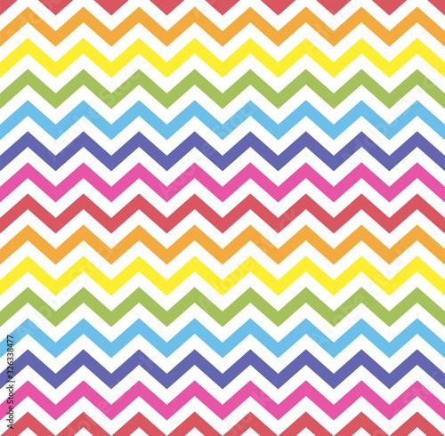 Photo Rainbow seamless zigzag pattern, vector illustration