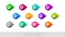 Colorful Bullet Points - Numbe...