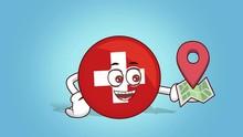 Cartoon Icon Flag Switzerland ...