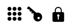 Key Lock Keypad Icon . Web Icon Set .vector Illustration