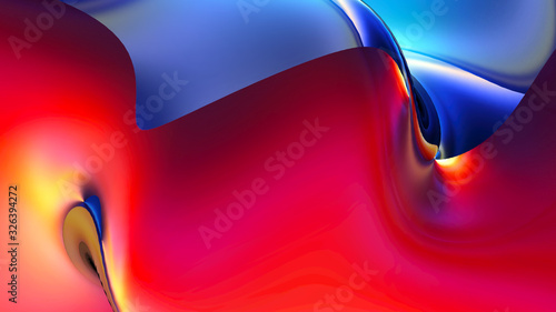 Fotografia Colorful digital background with beautiful curved surface