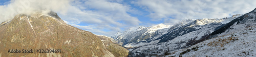 Photo Panoramic of the mountains the Aran