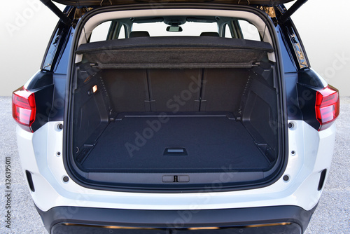 Fototapeta Empty trunk of the suv