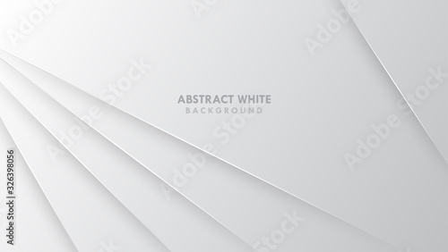 Valokuva Abstract Elegant white and grey Background