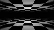 Abstract Checkerboard Landscape Seamless Looping