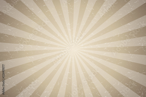 Sepia light rays background vector Canvas Print