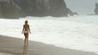 Sexy girl wearing a bikini at the beach - summer vacation at the ocean